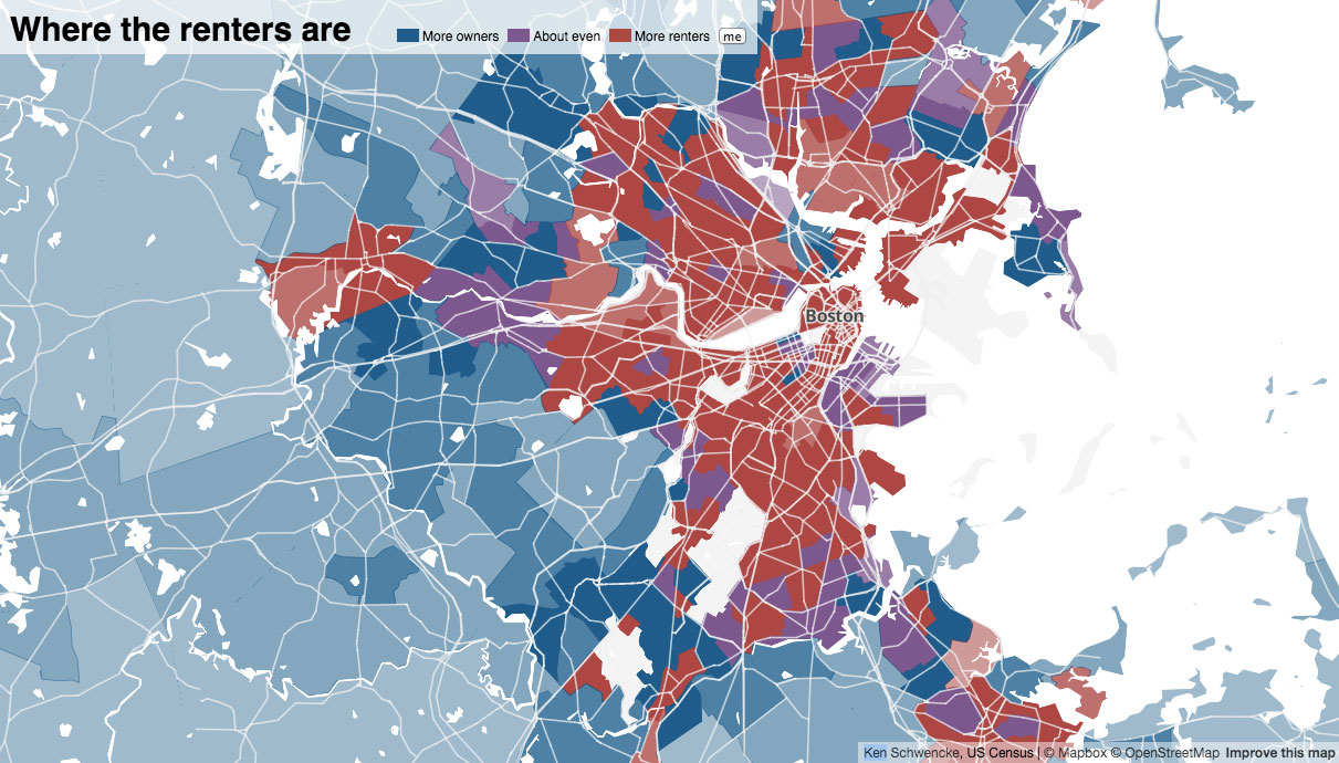 Boston Renters Are Stuck In A Vicious Spiral News Renting - Us rent map