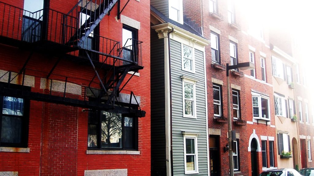 "North End's famous ""Spite House"" back on the market"