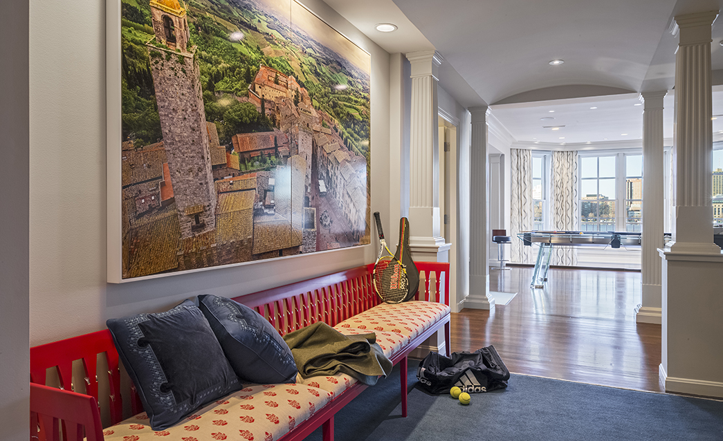 Back Bay Town House Designed For Physicist Desiring The Colors Cool Of Native Italy