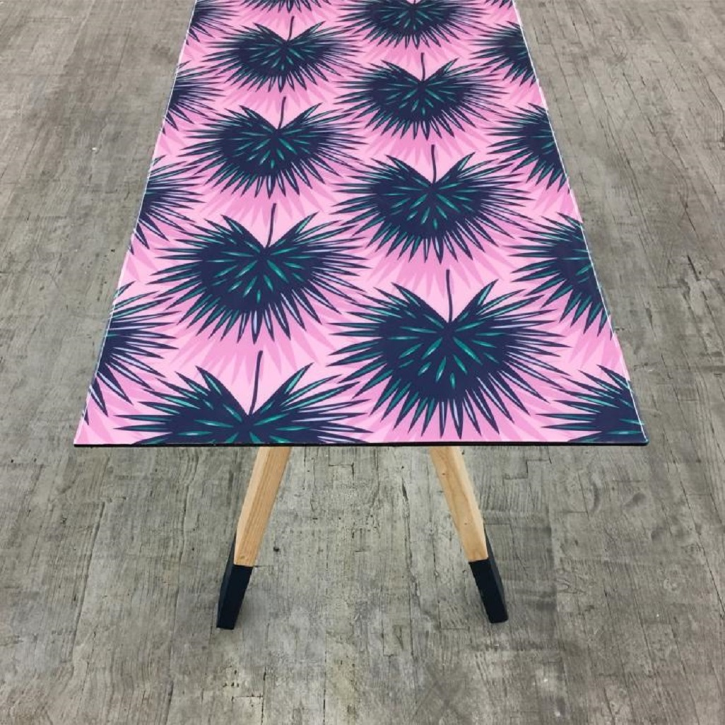 Don't repaint that table. Wallpaper it