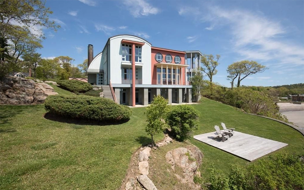A contemporary beachfront compound in Manchester-by-the-Sea is listed at $8.5 million
