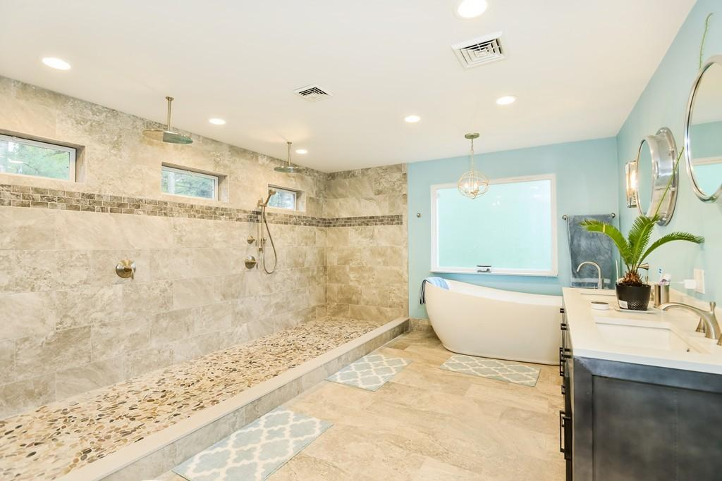 Just listed: A waterfront North Attleborough home with a stunning bathroom