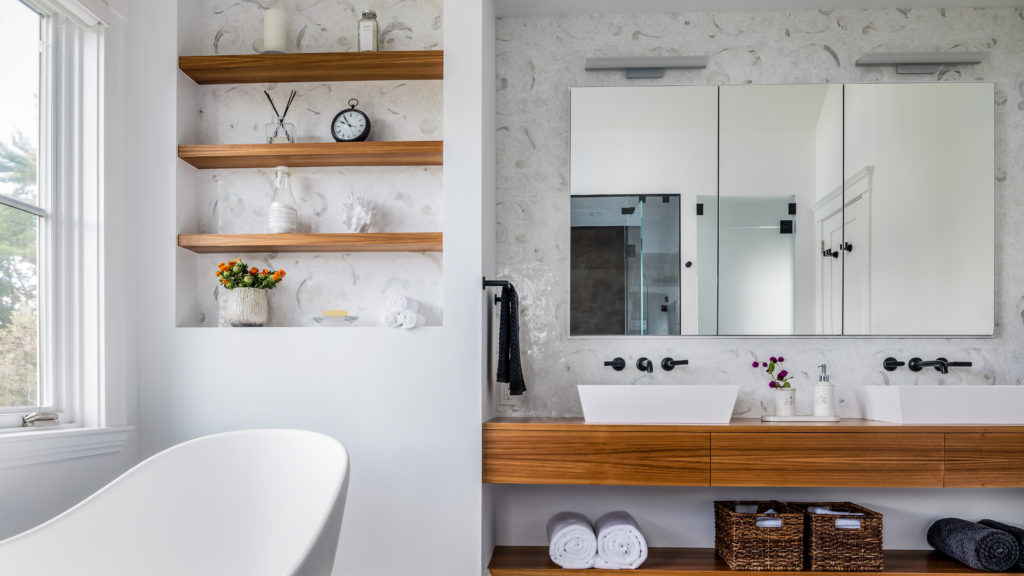 Why Wood Is So Hot In Bathroom Design Now